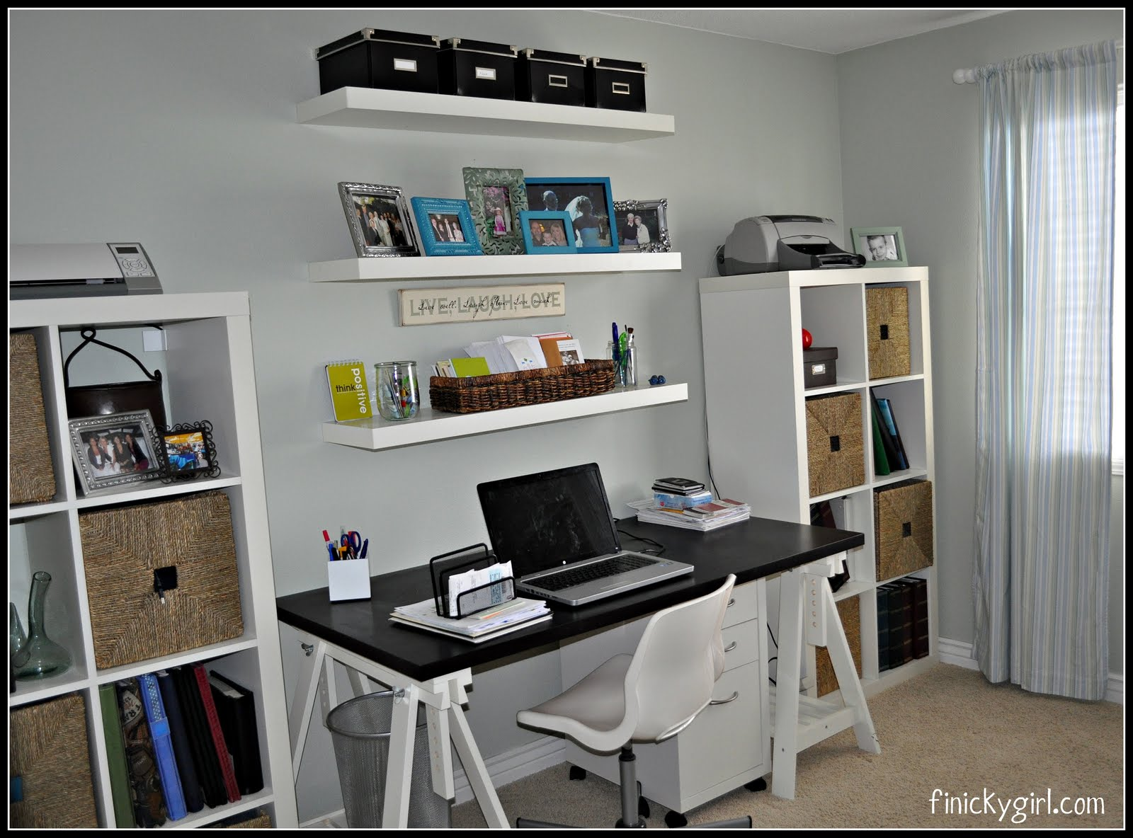 Home office makeover finicky girl - Creative uses of floating shelves ikea for stylish storage units ...